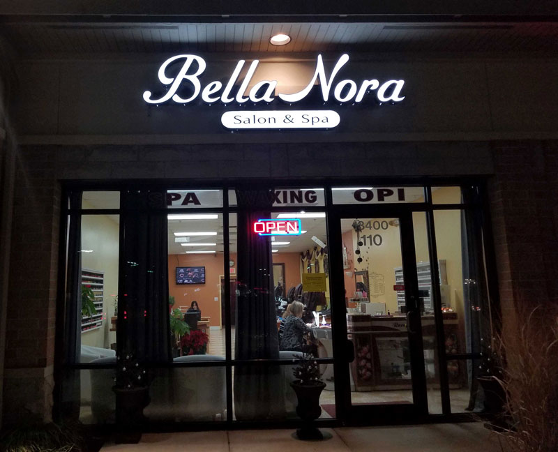Bella Nora Business Sign