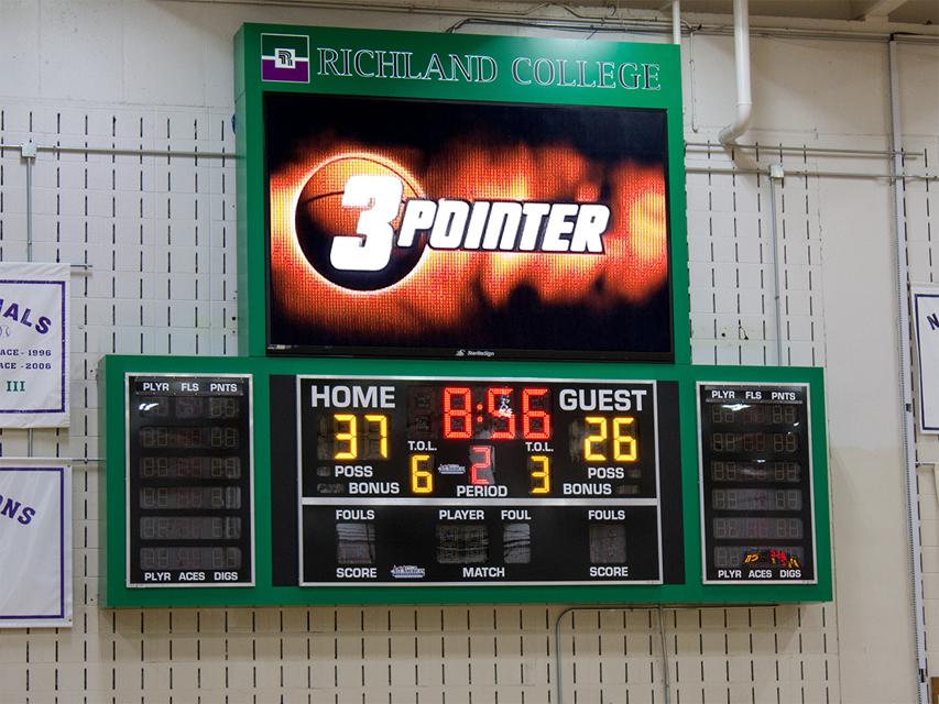 scoreboard led message center
