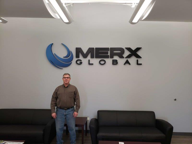 lobby sign at merx global
