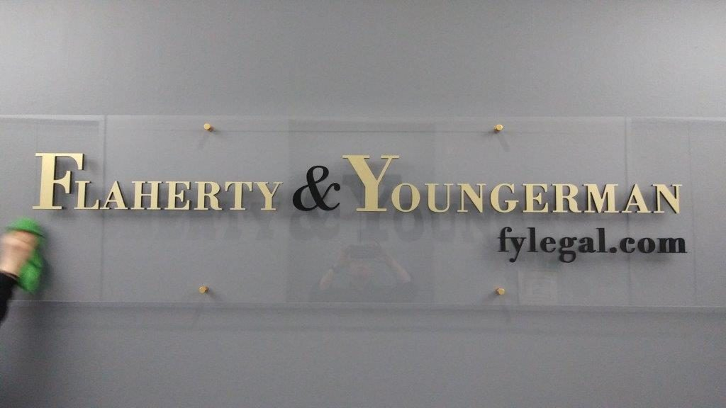 Lobby Sign at Law Firm