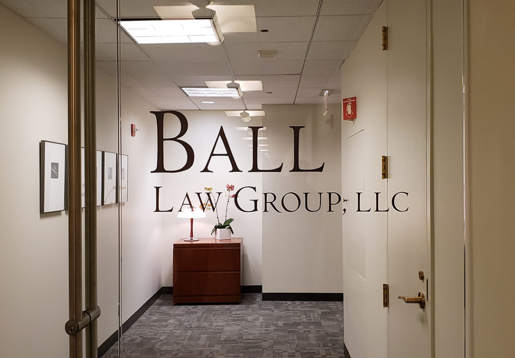 Window Graphic for law group